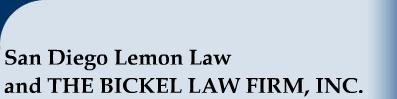 California Lemon Law Attorneys Bickel Law Firm Inc >> San Diego Lemon Law And The Bickel Law Firm Inc